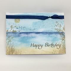 Birthday Card - Peaceful Beach scene