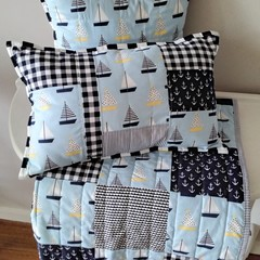 Baby quilt and cushions, cot quilt, nursery decor, nursery set