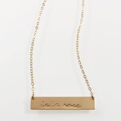 Brooklyn - Petite Personalised Bar Necklace