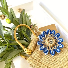 Natural Fibre Flower Embellishment Gift Tag Jute Beach Decoration Rustic