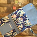 Nappy Wallet - Proteas on Blue