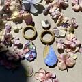 Statement earrings - polymer clay earrings Triple drops
