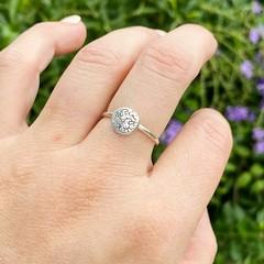 Rough Seas silver ring
