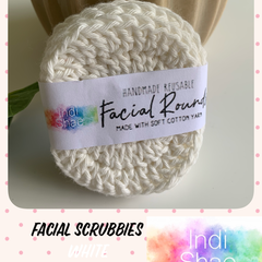 White Crocheted Face Scrubbies