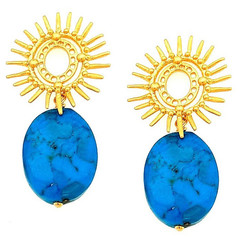 Alegra Arizona turquoise starburst Earring Gold or Silver