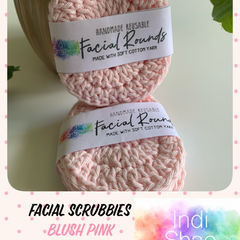 Blush Pink Crocheted Face Scrubbies