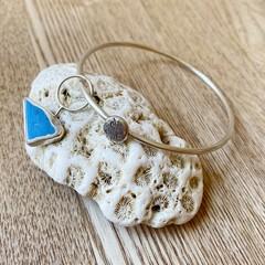 Sea Pottery Sterling Silver Bangle