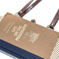 Life on the Mississippi Novel Bag - Mark Twain - Bag made from a book