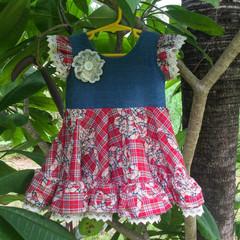 Plaid Ruffle Dress Size 2
