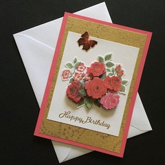 'A Beautiful Bouquet of Roses for Your Birthday' Card