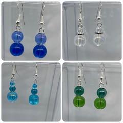 Glass Beaded Dangly Earrings