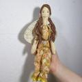 Zoe Cloth Doll - Heirloom Style Fabric Fairy in Carmel Swirl Pyjamas