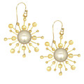 Pearl Starburst 14k Gold filled Earrings