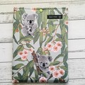 Koala padded book sleeve. Booksleeve with closure. Australian animals.