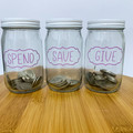 Spend Save Give Labels