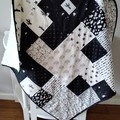 Baby quilt, cot quilt,    nursery quilt, baby blanket