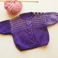 Baby jumper with cable detail. Size 0