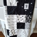 Baby quilt, cot quilt,    nursery quilt, baby blanket