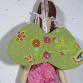Yaz Cloth Doll - Heirloom Style Fabric Fairy in Pink Pyjamas