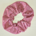 Pink with Cream Spots Scrunchy