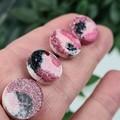Musk Sparkle Resin Dot Button - Stud Earrings