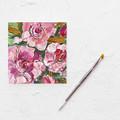 Original Desktop Art - Acrylic Painting of Roses on Canvas