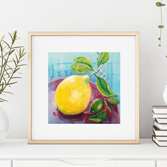 Still Life with Lemon - Fruit Art Print