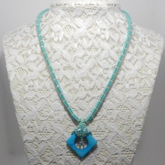 Bead  Weaved Necklace with Pendant
