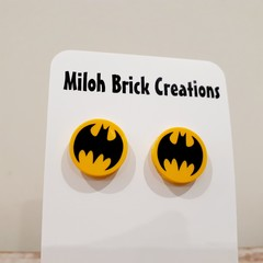 BATMAN & BOOM/BAM/POW Assorted Stud Earrings