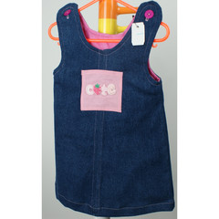 Cute as a strawberry winter pinny size 1