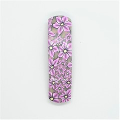 Hair clip - pink floral