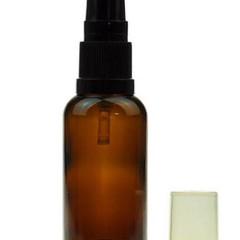 3 x 100ml Glass Amber Bottle with Serum Pump - DIY beauty