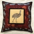 Australiana cushion cover - EMU