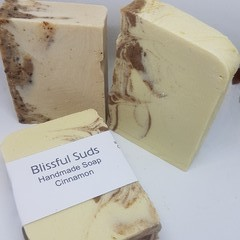 Handmade  Soap Bar Cinnamon  (Spicy Natural Scent with Ground Cinnamon)