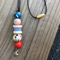 """The Red Essy """"Asher""""  Beaded Necklace Lanyard"""