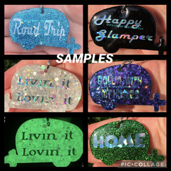 Caravan key tag ~ with fun quotes ~ Custom handmade with resin