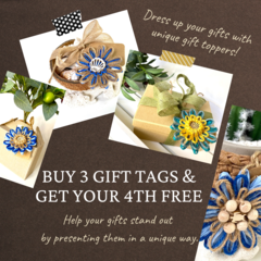 BUY ANY 3 GIFT TAGS & GET YOUR 4TH FREE