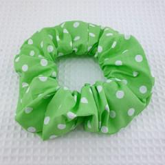 Green Spot Scrunchie