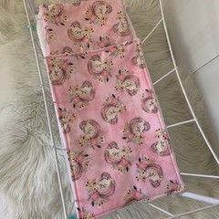 Dolls bedding, pram or cradle bedding, quilt set, unicorns
