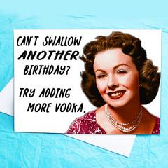 Just add Vodka Funny Birthday Card