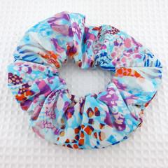 Coloured Animal Print Swan Scrunchie