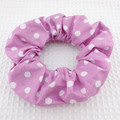 Purple Spot Scrunchie