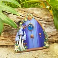 Blue Mushroom Fairy Door