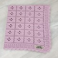 Baby Blanket Pure Australian Merino Wool - Handmade Crochet