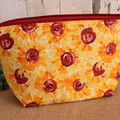 Medium Toiletry bag- Sunflower