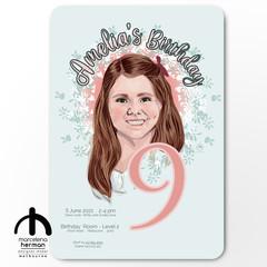 Custom Child's Party Invitation Design -digital