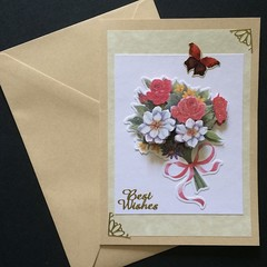 Best Wishes - 'A Beautiful Bouquet for Your Birthday' Card