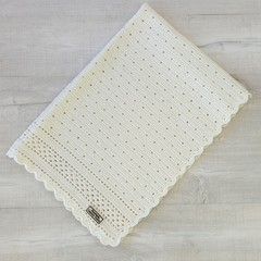 Baby Blanket Pure Australian Luxury Wool - Handmade Crochet - Vintage Pattern