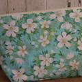 Large Toiletry bag- Aqua Floral