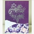 Hope flowers card